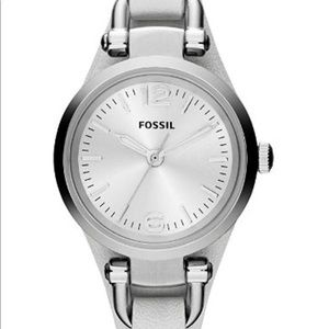 Fossil Georgia Women's watch white and silver